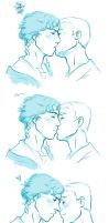 Sketch: Pissy Kiss by BlueEyedPerceiver