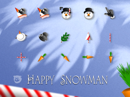 Happy.Snowman by tchiro