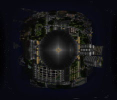 Minecraft 360 city at night by 1111nick