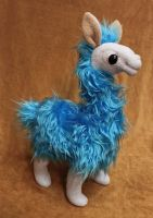 Blue Raspberry Alpaca by Couch-stuffs