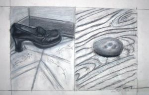 a shoe and a potato. by adagia