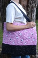 Hello Kitty Quilted Bag by quiltoni