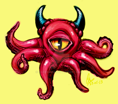 Horned cycloctopus thing by carykaiba
