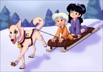 Sled Ride by NattiKay