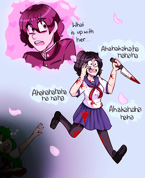 Yandere-chan and Her Senpai. by UndeadCrime
