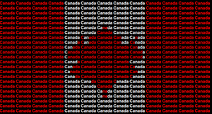 Canada Name Flag by ABtheButterfly