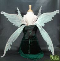 Light green fairy wings back by FaeryAzarelle