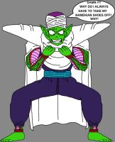 Barefoot Frustrated Piccolo Jr. 2 by DragonBallFan2012