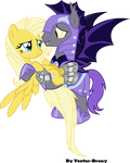 Stygius and Phycoshy (aka Whisper) by Vector-Brony