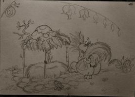 Dragonet and his house by Tale-in-shadow