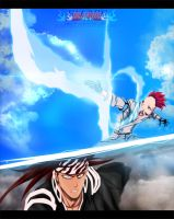 Bleach 587 - Bazz B and Renji by Yusuflpu