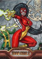 Iron Man 2 Spider-Woman by tonyperna