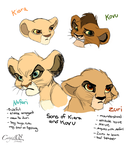 Kovu and Kiara's cubs rough sketch by Catgirl08