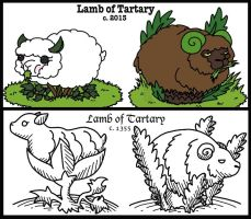 Vegetable Lamb of Tartary by MuseWhimsy