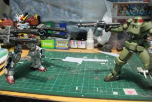HG 1/144 Heavy Arms Custom Vs.RD Leo. by s0tangh0n