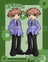 Ouran Host Club- Twins by snowbunnyluv