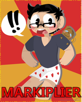 Markiplier and Tiny Box Tim! by Monodes