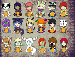 [G] Halloween chibis by MrBoodle