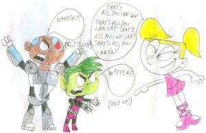 Dee Dee Mocks SpongeBeast and PatBorg by SithVampireMaster27