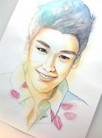 Seungri -- BIGBANG painting fan art by antuyetlai