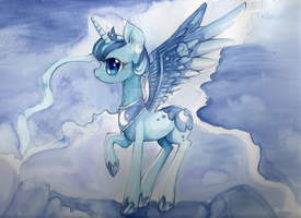 Luna watercolour by Luna-gamer-pony