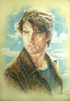 vanilla sky color pencil by aaronwty