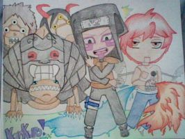 Kankuro and Puppets by Cein18