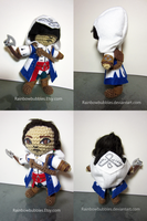 Commission- Connor from Assassin's Creed fanplush by Rainbowbubbles