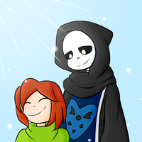 Sans and His Child by VeteranPegasister
