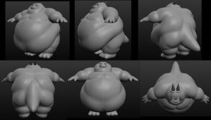 Obese Dragon Sculpt by DragonDoctor