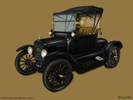 Car Illustration Ford Model T by MwLucYo