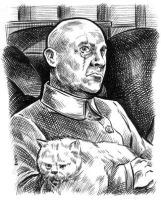 Blofeld 1967 sketch card by dalgoda7