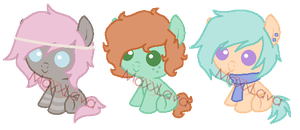 Earth Pony Boys by PonyPartyAdopts