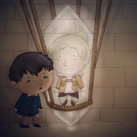 Lovesick Bertholdt and a Crystal Annie by Foxdraft