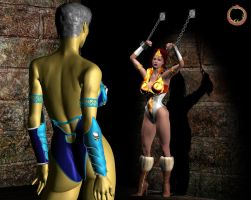 Teela vs. Evil-Lyn 17 by Uroboros-Art