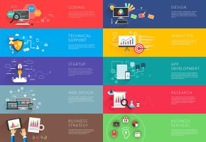 Business and development templates vector by Shooarts
