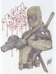 Sketch: Deadpool by redgvicente