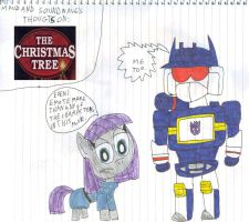Maud and Soundwave's Thoughts on Christmas Tree by SithVampireMaster27