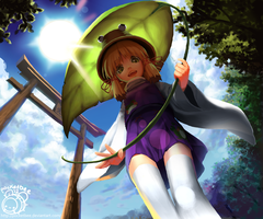 Frog Girl Suwako - Day ver. by pocketbee