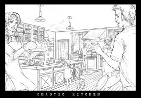 Chaotic Kitchen by Ecthelian