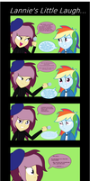 Lannies Little Laugh - Equestria Girls Comic by SJArt117