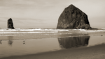 cannon beach sepia I by adderx99