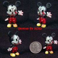 Zombie M Mouse ooak figurine by Undead-Art