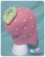 Strawberry Ear-Flap Hat 2 by moofestgirl