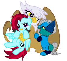 MLP:Annoying the Griffin by kiananuva12