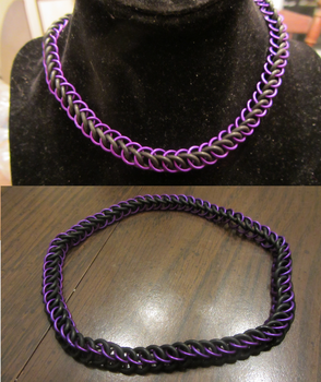 Purple Half Persian Stretchy Choker by BradsCC