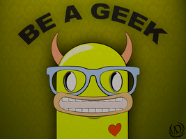 BE A GEEK -WP by Ayo-Charizard
