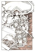 Snow Job Cover Sketch by KlausScherwinski