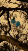 Two Blue Balloons by Jesuslovechild