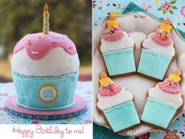 Giant Cupcake Cake by kupenska
